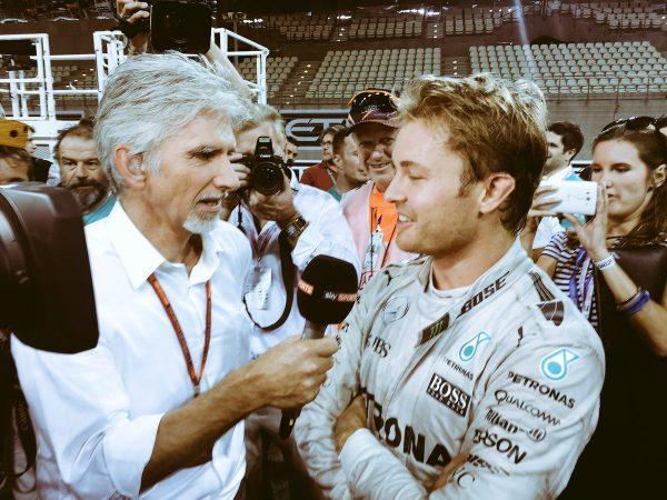 F1 2016 ABOU DHABI Damon HILL et Nico ROSBERG les deux fils de CHAMPION du MONDE ce 27 Novembre