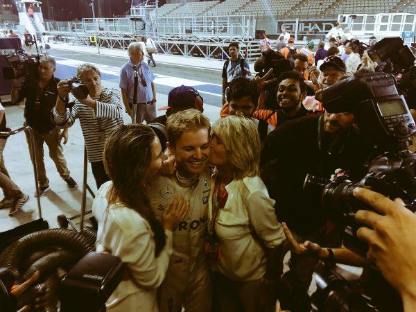 F1 2016 ABOU DHZBI NICO ROSBERG avec sa maman SINA et sa femme VIVIAN