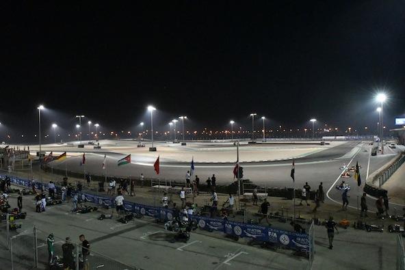 KARTING 2016 La piste du circuit de AKHIR à BAHREIN le 19 novembre avec le Championnat du Monde OK et OK Junio