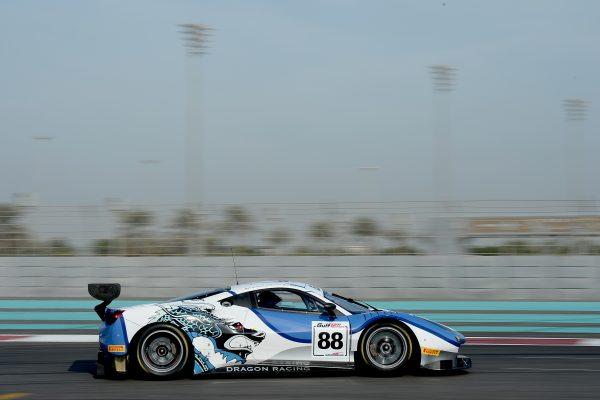 12 HEURES ABOU DHABI 2016 La FERRARI F488 GT3 de l'équipe DRAGON.