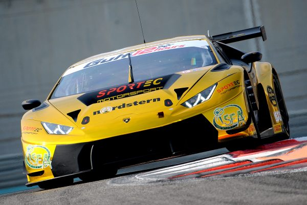 12 HEURES ABOU DHABI 2016 La LAMBORGHINI Huracan GT3 du SPORTEC Motorsport.