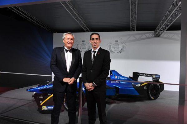 FIA REMISE DES PRIX 2016 à VIENNE le vendredi 2 décembre SEBASTIEN BUEMI et JEAN PAUL DRIOT