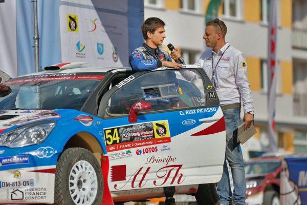 Pierre Louis LOUBET au depart du Rallye de POLOGNE 2016