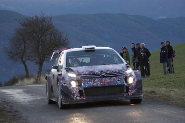 WRC 2017 - MONTE CARLO la CITROEN en essai en décembre Photo Eric DOBROWOLSKY