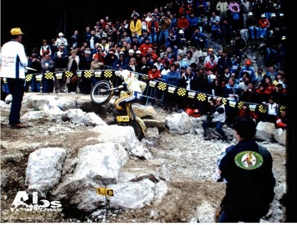 BURGAT AUX ROUSSES 1981: JE SUIS SUR LA PHOTO,LOGIQUE JE SHOOTE POUR MOTO VERTE