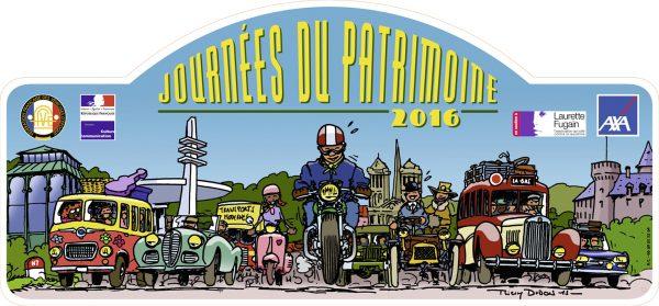 Plaque Patrimoine bénévolement réalisée par l'artiste Thierry Dubois