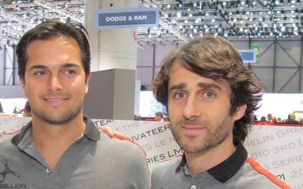 Piquet et Prost au Salon de Genève 2017 - amis en ville... rivaux sur la piste... © Jacques SamAlens (StrategiesAutoMotive)