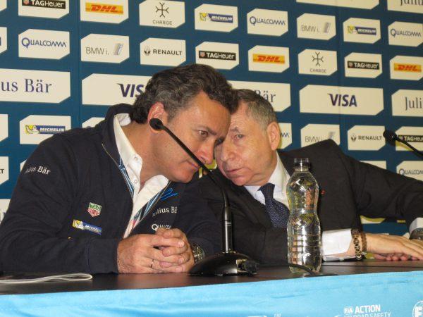 le CEO Alejandro Agag (Formula E Holding) et le Président Jean Todt (FIA) © Jacques SamAlens (StrategiesAutoMotive)