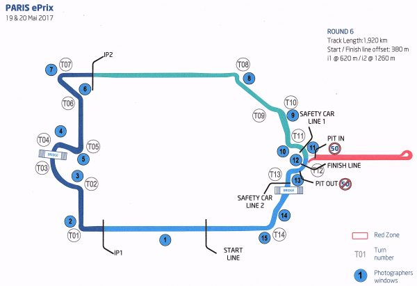 Plan du Circuit des Invalides