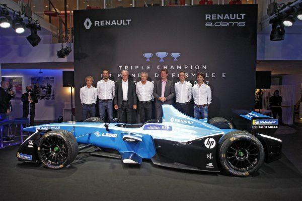 Auto Renault e-dams présente sa nouvelle Formule E