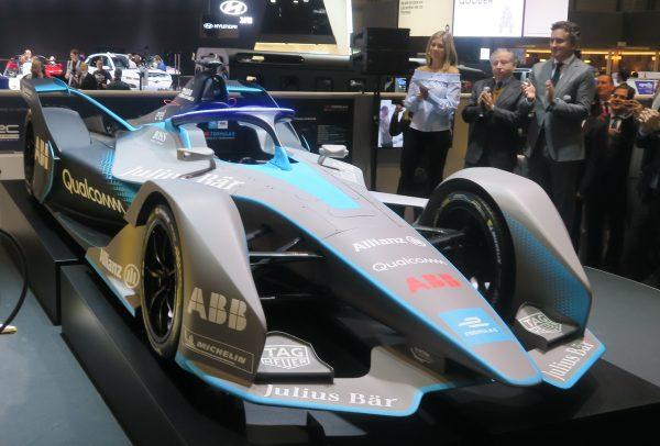 Genève Salon de l'Auto 2018 - Jean Todt (Président de la FIA) & Alejandro Agag (patron de la Formula E) présentent la monoplace de la saison prochaine