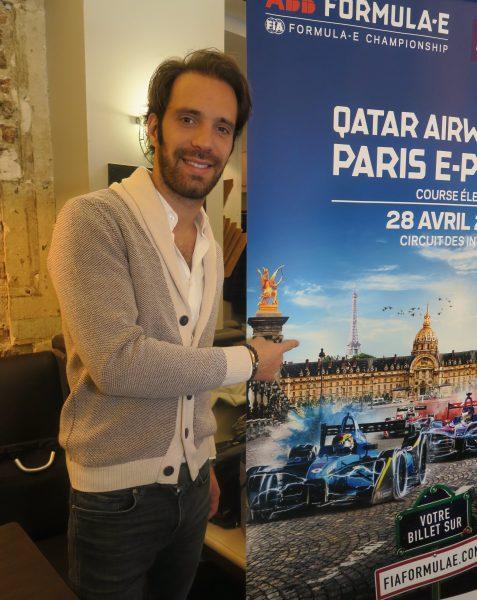 Jean-Éric Vergne fier de présenter l'affiche de son e-Prix