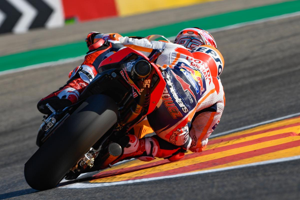 MotoGP/GP d'Aragon : Marquez gagne et accroît son avance au Championnat