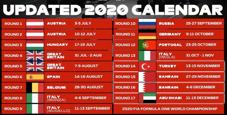La Turquie, Bahreïn et Abou Dhabi clôtureront la saison de F1