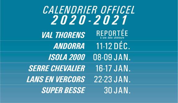 Calendrier Trophée Andros 2021 LE TROPHÉE ANDROS BOULEVERSE SON CALENDRIER DE LA SAISON 2020 2021