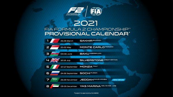 LE CALENDRIER 2021 DE LA F2 | Motors Addict