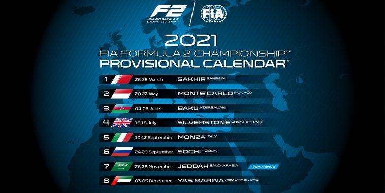LE CALENDRIER 2021 DE LA F2 | Autonewsinfo