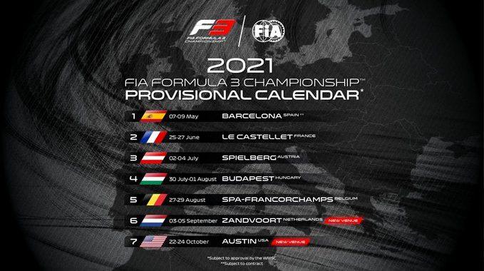 LE CALENDRIER 2021 DE LA F3 | Autonewsinfo