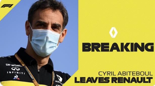 Cyril Abiteboul quitte l'écurie Renault de F1