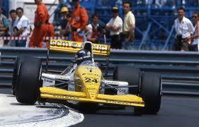 PAOLO BARILLA AUVOLZNT DE LA MINARD AU GP DE MONACO DE F1 1990
